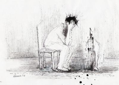 El poeta deja su sangre en lo que escribe.